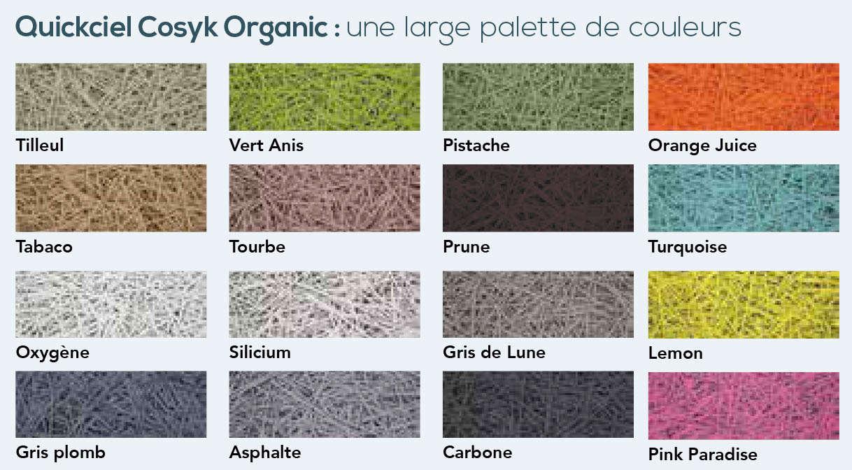 palette de couleurs Quickciel Cosyk Organic